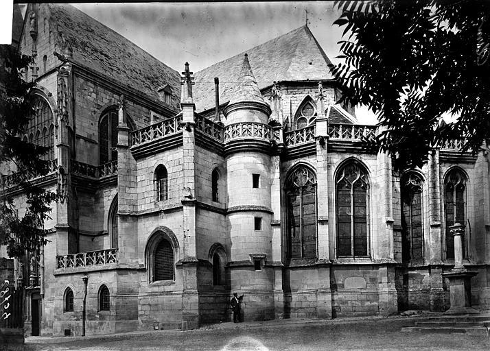 Eglise Saint-Samson Abside au sud, Enlart, Camille (historien),