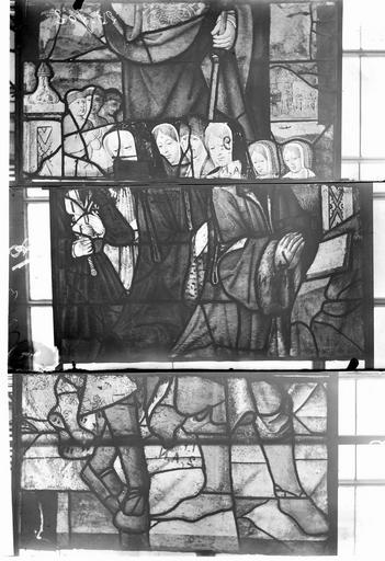 Eglise Vitraux, panneaux 5, 6, 29 de la baie F, Nadeau, H. (photographe),