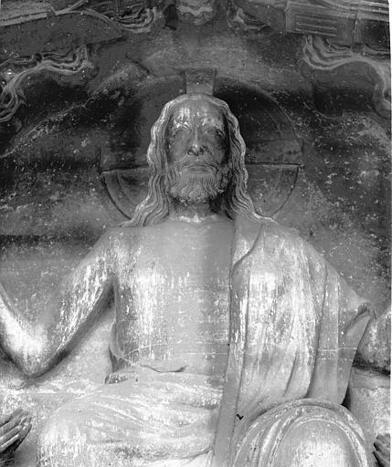 Cathédrale Notre-Dame Portail nord, buste du Christ présentant les stigmates, Lajoie, Abel,