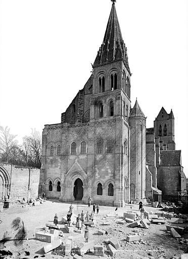 Abbaye Saint-Nicolas (ancienne) Eglise, ensemble ouest, Durand, Eugène (photographe),