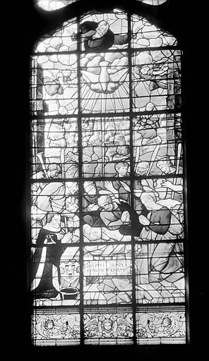 Hôpital Vitrail de la chapelle : L'Adoration des bergers, Heuzé, Henri (photographe),
