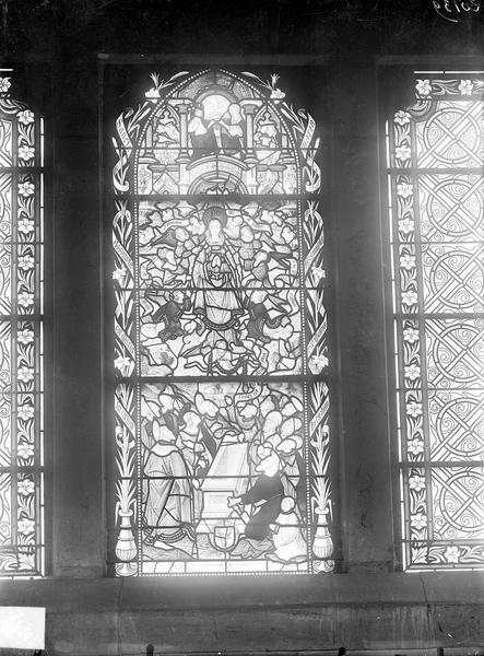 Eglise Saint-Michel Voussures de droite du portail central, Gossin (photographe),
