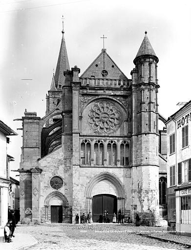 Eglise Saint-Etienne Façade ouest, Durand, Eugène (photographe),