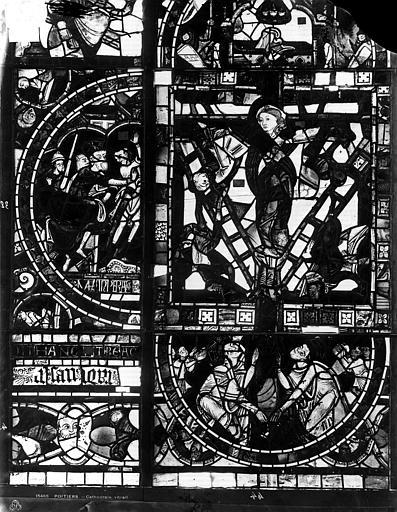 Cathédrale Saint-Pierre Vitrail, fenêtre B, figure, Leprévost (photographe),