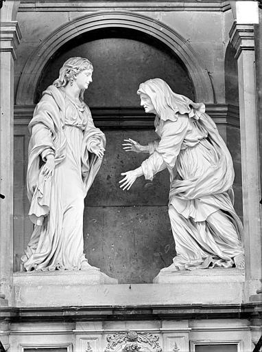 Hospice Sainte-Anne (ancien) Maître-autel, La Visitation, Gossin (photographe),