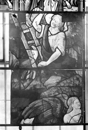 Eglise Vitraux, panneaux 4 et 11 de la baie G, Nadeau, H. (photographe),