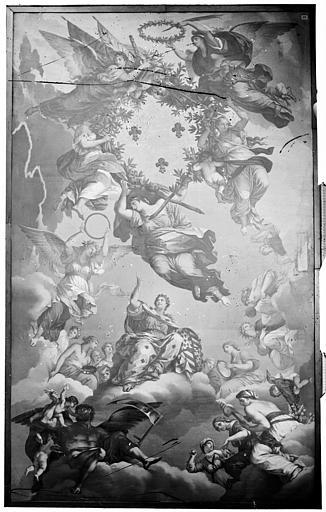 Palais des Ducs et des Etats de Bourgogne (ancien) ; Musée Plafond peint, Delaunay (photographe),