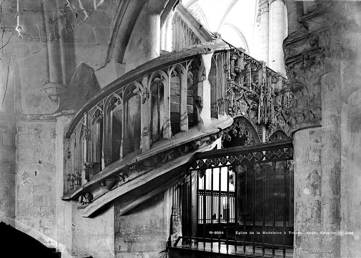 Eglise de la Madeleine Escalier, jubé, Durand, Eugène (photographe),