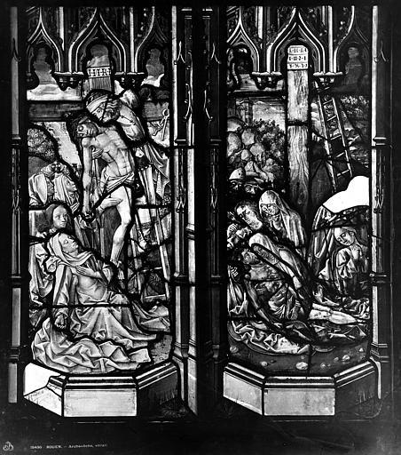 Archevêché Vitrail, Miseau tombeau du Christ, Mater dolorosa, Leprévost (photographe),