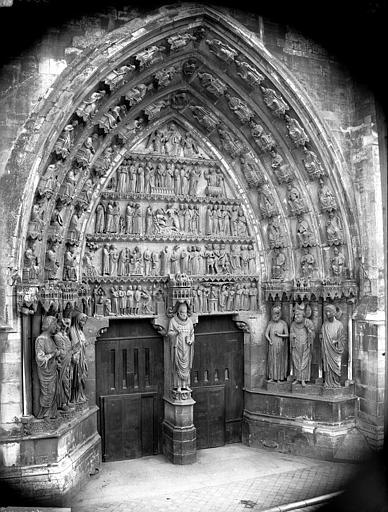 Cathédrale Notre-Dame Portail nord, portail de saint Sixte, ensemble, Lajoie, Abel,