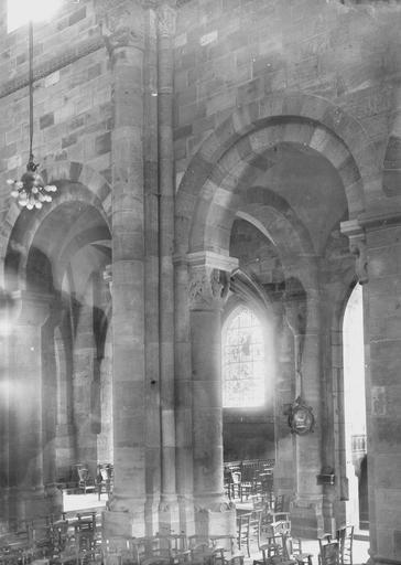 Cathédrale Saint-Dié Intérieur, vue diagonale, Durand, Georges (photographe à Amiens),