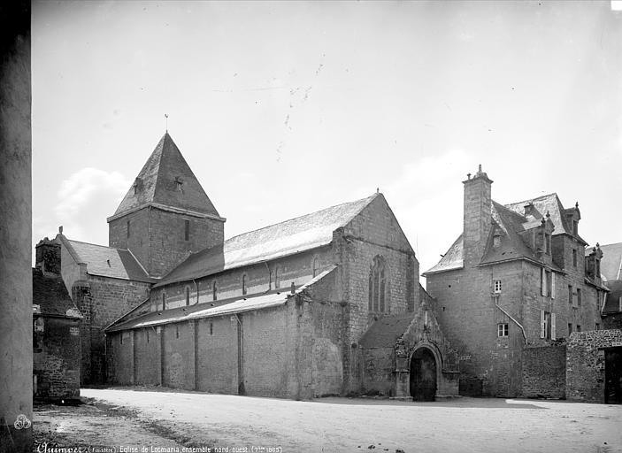 Prieuré de Locmaria (ancien) Eglise : ensemble nord-ouest, Mieusement, Médéric (photographe),