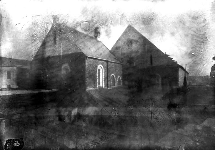 Hôtel-Dieu (ancien hôpital Saint-Jean) Chapelle et ancienne salle des malades, côté nord-ouest, Berthault (photographe),