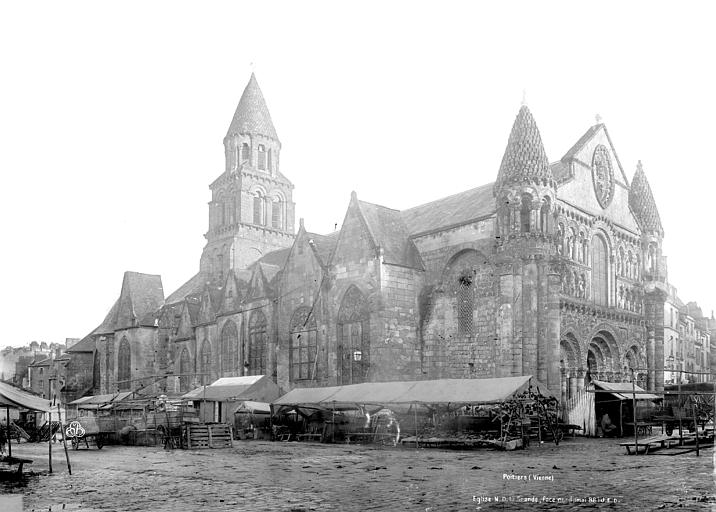 Eglise Notre-Dame-la-Grande Façade nord, Durand, Eugène (photographe),