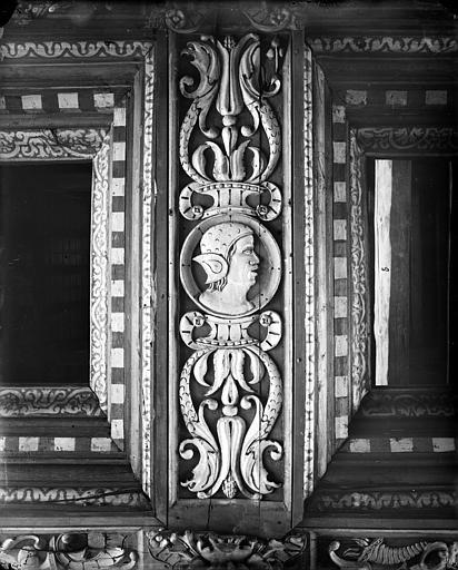Palais de Justice Chambre Dorée : Plafond à caissons (détail), Delaunay (photographe),