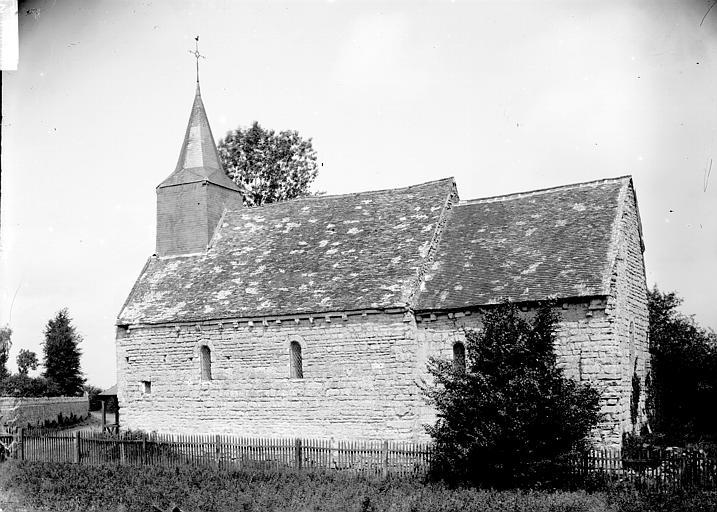 Eglise Façade latérale, Enlart, Camille (historien),