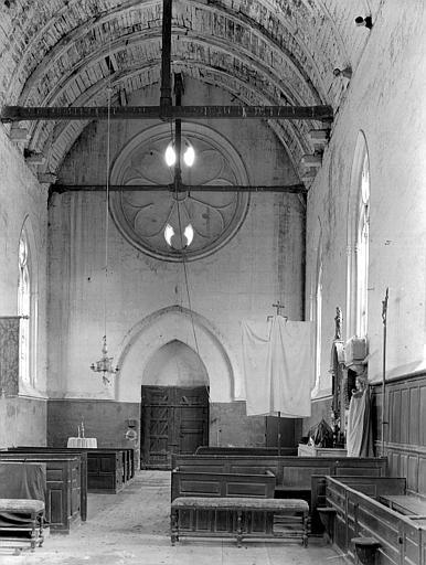 Eglise Nef, vue du choeur, Chaine, Henri (architecte),