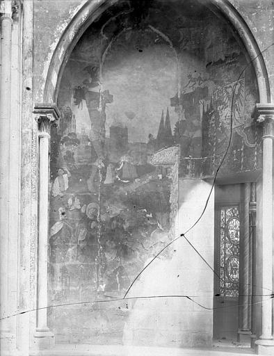 Eglise Notre-Dame Peinture murale du bas-côté : La Calvaire, Durand, Jean-Eugène (photographe),