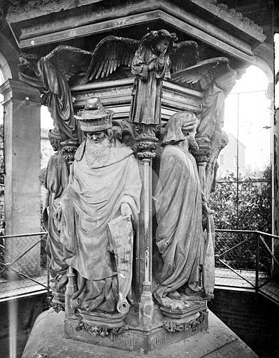Chartreuse de Champmol (ancienne) Puits de Moïse : Zacharie et Daniel, Delaunay (photographe),