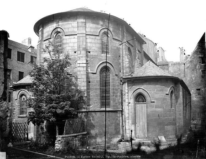 Eglise Saint-Julien-le-Pauvre Abside, Durand, Eugène (photographe),