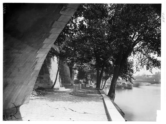 Bas quai et lavoir, Atget, Eugène (photographe),