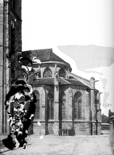Eglise Saint-Germain Abside, côté sud, Durand, Eugène (photographe),