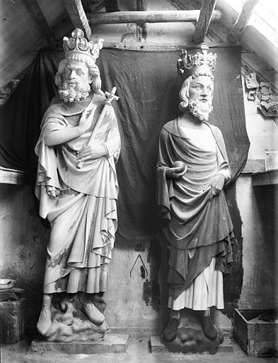 Cathédrale Notre-Dame Galerie des Rois, deux rois, restauration, Lajoie, Abel,