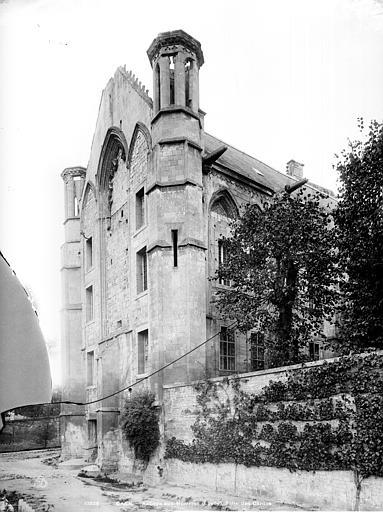 Abbaye aux Hommes (ancienne) Salle des gardes : Pignon de la façade, Durand, Jean-Eugène (photographe),
