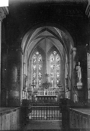 Abbaye de Graville-Sainte-Honorine (ancienne) Vue intérieure du choeur, Vorin,
