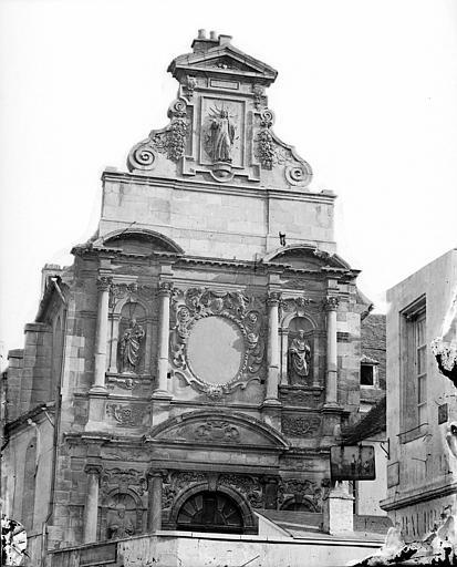 Chapelle des Carmélites (ancienne) Façade ouest : Partie supérieure, Delaunay (photographe),
