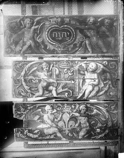 Palais de Justice Boiseries de plafond : Angelots, Delaunay (photographe), 21 ; Dijon ; Musée des Beaux-Arts (original déposé)