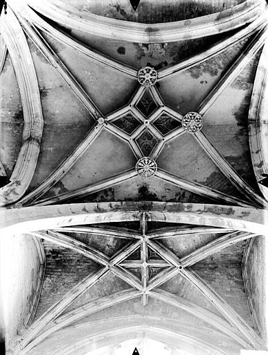 Eglise Saint-Gervais-Saint-Protais Bas-côté sud, voûtes, Gossin (photographe),