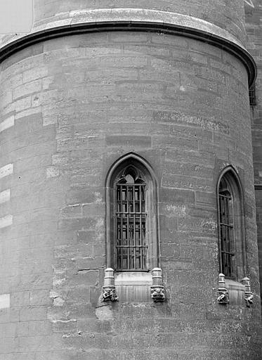 Château Donjon : Fenêtres d'une tour, Vorin,