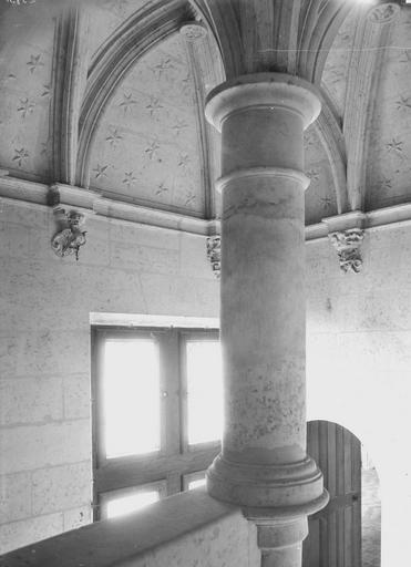 Hôtel Pincé Escalier, partie haute à l'intérieur, Magne, Louis,