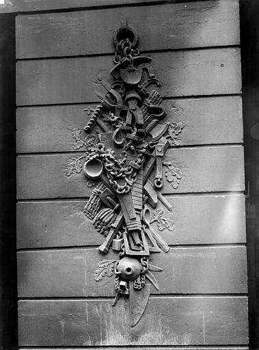 Maison de Clodion Façade sur rue : Pile gauche du rez-de-chaussée, Durand, Jean-Eugène (photographe),