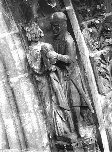 Cathédrale Notre-Dame Portail ouest, groupe, David et Paul, Lajoie, Abel,