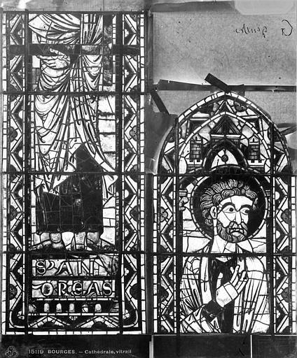 Cathédrale Saint-Etienne Vitrail : saint André, Leprévost (photographe),