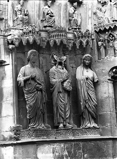 Cathédrale Notre-Dame Portail nord, portail de saint Sixte, ébrasement gauche, Lajoie, Abel,