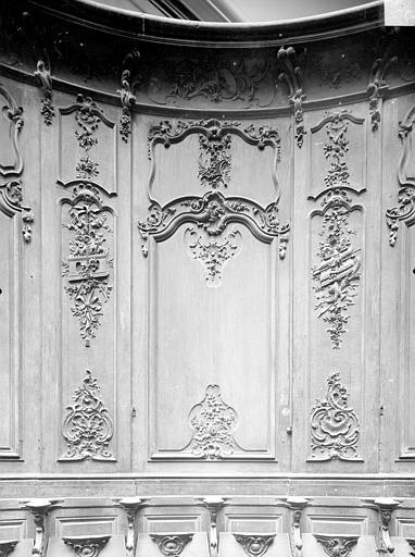 Cathédrale Notre-Dame-de-l'Assomption Stalles, quatrième panneau, Heuzé, Henri (photographe),