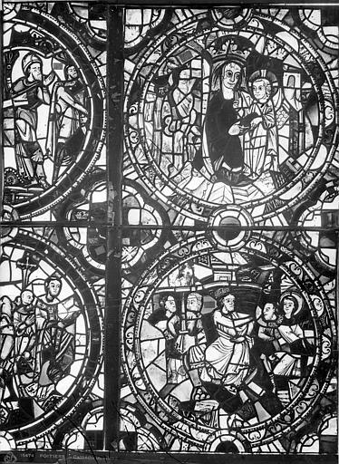 Cathédrale Saint-Pierre Vitrail, baie A : médaillons, Leprévost (photographe),