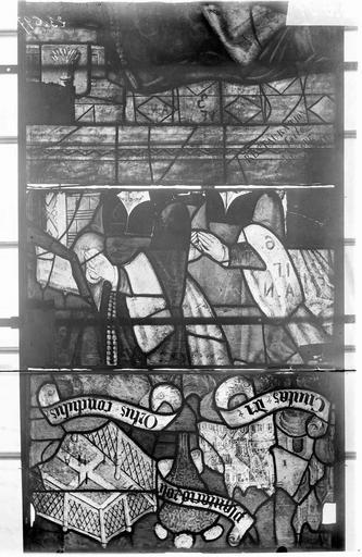 Eglise Vitraux, panneaux 12, 25, 26 de la baie F, Nadeau, H. (photographe),