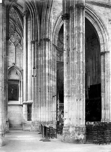 Eglise Saint-Ouen Vue intérieure du bas-côté nord, Durand, Jean-Eugène (photographe),