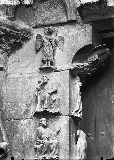 Cathédrale Notre-Dame Portail ouest, partie supérieure du piédroit gauche de la porte sud, Lajoie, Abel,