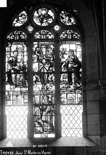 Eglise Saint-Martin-es-Vignes Vitrail, Robert, Paul (photographe),