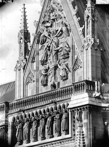 Cathédrale Notre-Dame Pignon du bras sud du transept et Galerie des Prophètes, Lajoie, Abel,