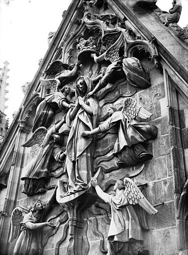 Cathédrale Notre-Dame Pignon du transept sud, l'Assomption, Lajoie, Abel,