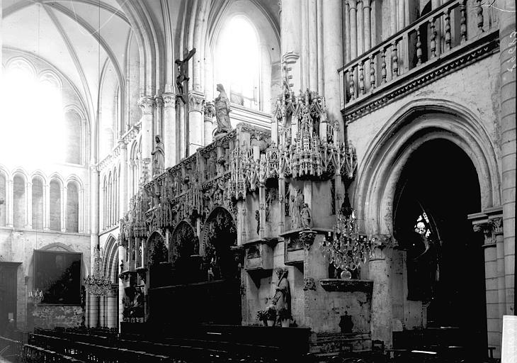 Eglise de la Madeleine Jubé: vue diagonale, Enlart, Camille (historien),