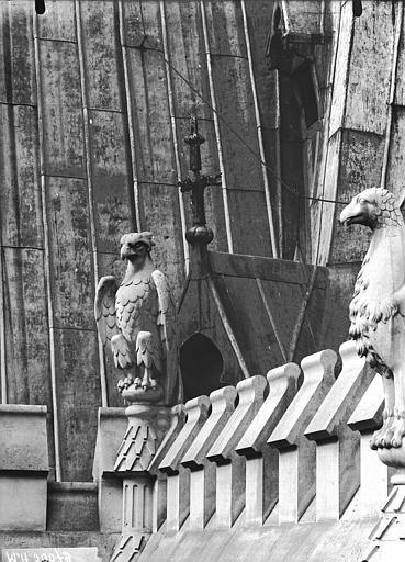 Cathédrale Notre-Dame Galerie supérieure de l'abside, oiseaux d'amortissement, Lajoie, Abel,