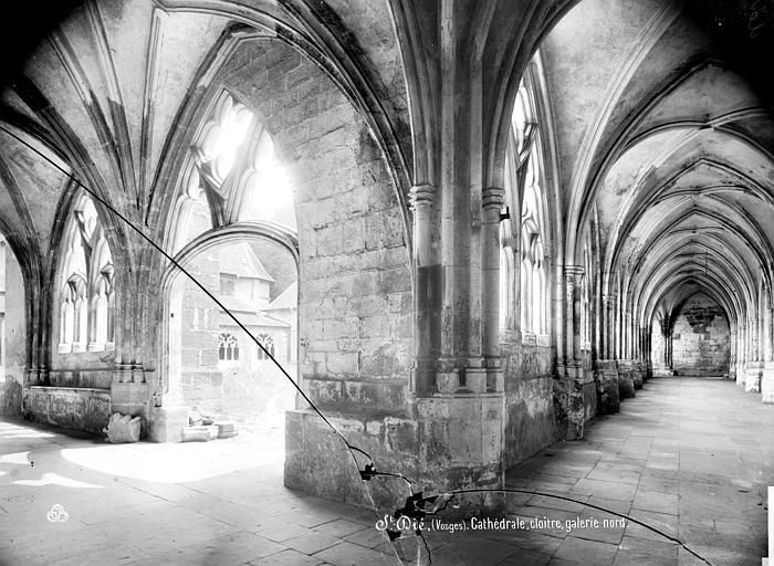 Cathédrale Saint-Dié Cloître : vue intérieure de la galerie nord, Mieusement, Médéric (photographe),