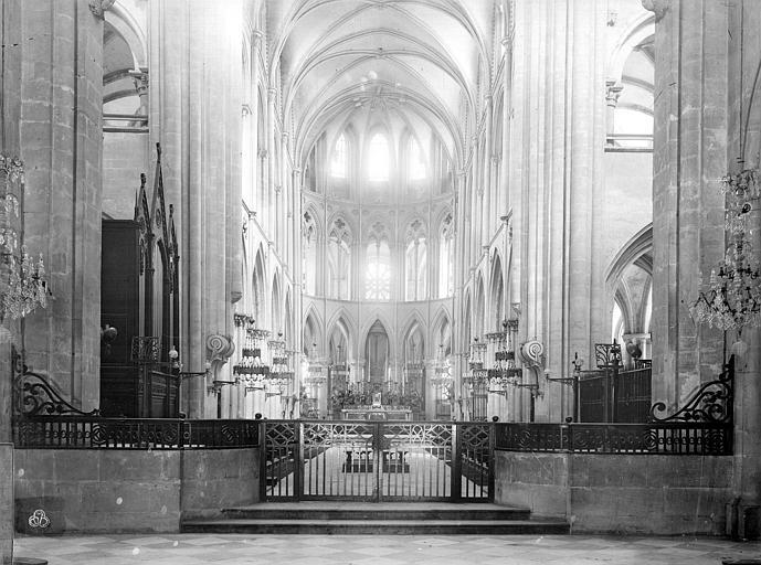 Eglise de Saint-Etienne-le-Vieux (ancienne) Vue intérieure du choeur, Durand, Jean-Eugène (photographe),